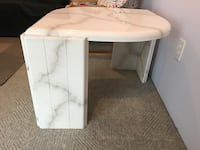 Marble pattern wooden coffee table