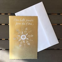 Season's Greeting Card in French, by Carlton Montreal, H3B 4W3