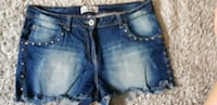 Blue Denim Distressed Short Shorts Kehl, 77694