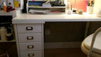 white wooden single pedestal desk Montréal, H4B 2J9