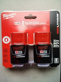MIlWAUKEE Battery M12. New Brand Batería De 12 Voltios Nueva 2x $65 Los Angeles, 91324