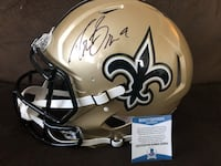 Brees Auto Saints Riddell Authentic Helmet Hurlock, 21643
