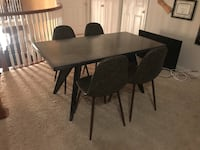 Contemporary metal dining room table with 4 chairs  Houston, 77094