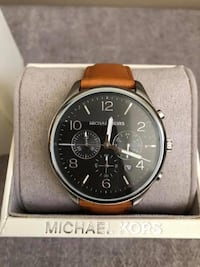 Michael Kors Men's Merrick Chronograph Brown Leather