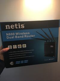Netis n600 wireless dual band router. Brand new in box.  Warwick, 10990