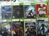 six Xbox 360 game cases Mississauga, L5G 1J2