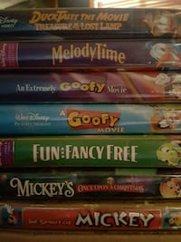 LOT OF 7 DISNEY VHS TAPES