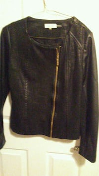 Calvin Klein blck leather Jacket Edmonton, T6K