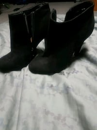 pair of black suede booties Stony Plain, T7Z 1H5