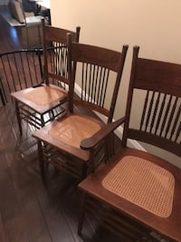 Two side chairs and and an arm chair 2259 mi