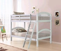 White Twin Over Twin Bunk Bed   HH11 Happy Homes Houston, 77036