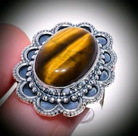 Exceptional Tigers Eye SS Ring 7.75 Albuquerque, 87114