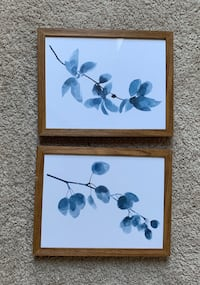 Blue flowers wall decor - set of 2 District of Columbia
