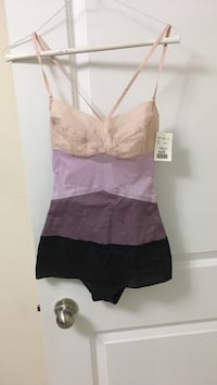 Brown, pink, and black spaghetti strap one piece small top Toronto, M4A