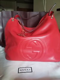 Red leather bag Orlando, 32839