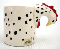Bergschrund Coffee Mug Rooster Head Handle Cup Vintage 1989 Novelty Collectible Port Colborne