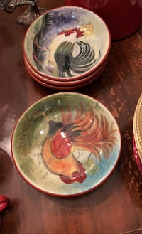 5 Dishwasher and Microwave safe Bowls. $5 each or all for $20.00.