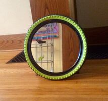 Unique IKEA Bike Tire Mirror