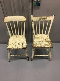 Vintage white chairs  North Vancouver, V7K 2H4