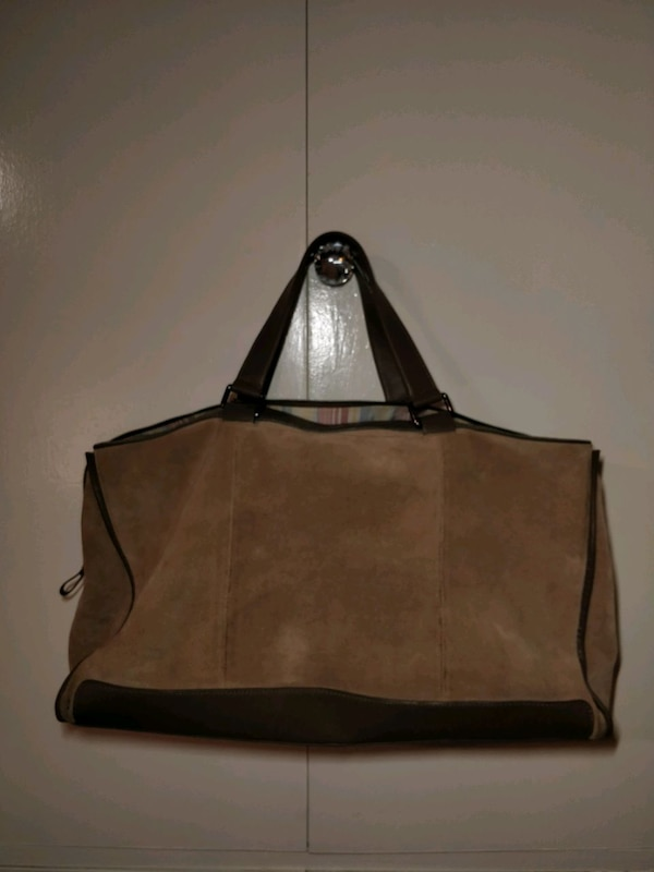Zara suede and leather travel bag