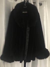 """Gorgeous Faux Dark Fur Jacket Size 20 - would suit 5' 6"""" or taller Barrie, L4N 9Z5"""