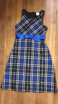 Blue Plaid dress Vernon, V1T 3W3