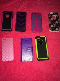 six assorted iPhone cases and two black iPhone cases Christiansburg, 24073