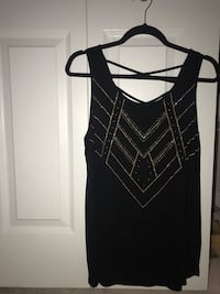 Black w/gold design tank top North Reading, 01864