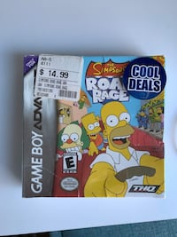 The Simpsons Road Rage Gameboy Advantage game