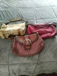 brown and red leather hobo bag Rockland, 02370
