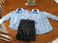 two white button-up dress shirts with gray dress pants Grande Prairie
