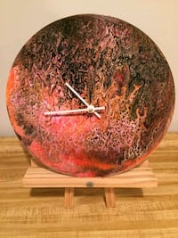Acrylic painting wall clock, 10in. Sinking Spring, 19608