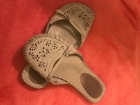 pair of white-and-brown leather sandals Victoria, V9A 1E7