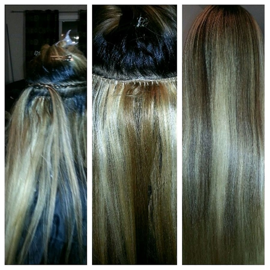 Sew-in hair extensions Christmas discount