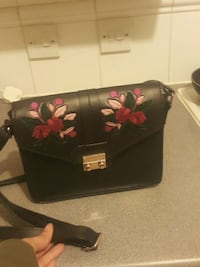 black and pink floral leather tote bag Greater London, E15 2PZ