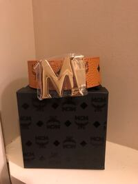 monogrammed brown MCM leather belt with box Stephens City, 22655