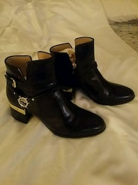 Black Italian Leather Boots Montclair, 22025