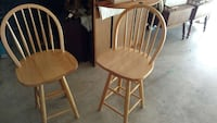 two brown wooden windsor chairs Westminster, 21158