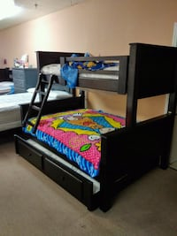Twin full bunk bed with trundle  West Covina