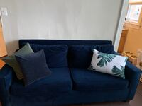West elm Henry sleeper sofa in ink blue velvet Washington, 20011