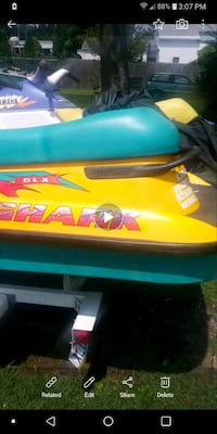 2 jet skis for sale or trade with trailer
