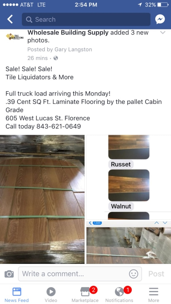 Used Discounted Laminate Flooring 39 Cent For Sale In Florence Letgo