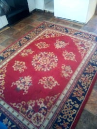red, white, and blue floral area rug Ault, 80610