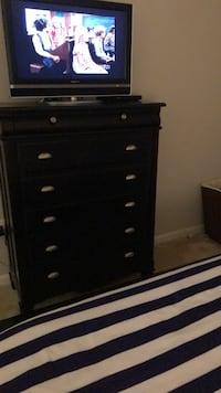 Black wooden 5-drawer chest CASH ONLY Alexandria, 22314