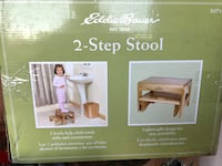 Eddie Bauer child 2 step stool natural color wood Virginia Beach, 23451