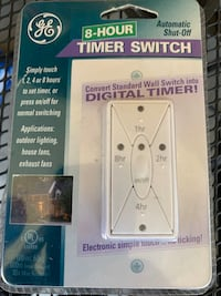 Eight hour digital timer switch