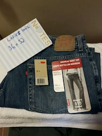 blue and white denim bottoms London, N6H 1T3