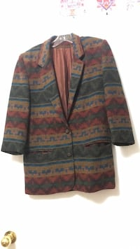 Abstract colourful zip-up jacket Richmond Hill, L4C 8K1