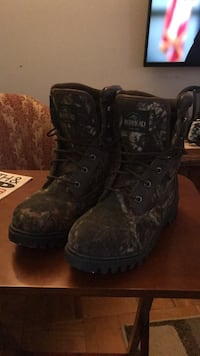 brown tree camouflage leather hiking boots 51 km