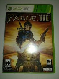 Fable III Xbox 360 game case